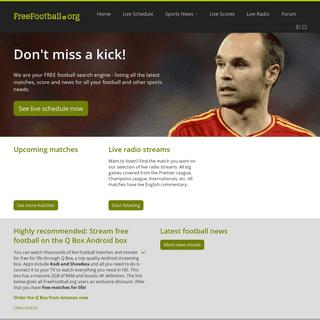 Free Live Football streams, watch streaming TV, Premier League