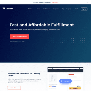 Fast and Affordable eCommerce Fulfillment Company - Deliverr