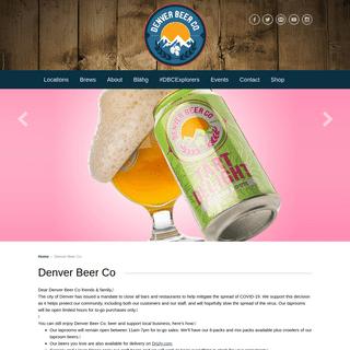 Denver Beer CoDenver Beer Co. - Denver Brewery & Beer Garden - Highlands, Denver, Colorado