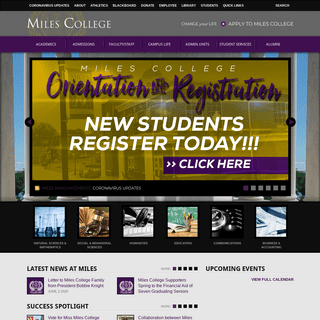 Welcome to Miles College - Miles College