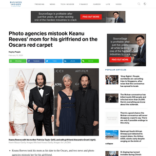 Photo agencies mistook Keanu Reeves' mom for his girlfriend on the Oscars red carpet, Business Insider - Business Insider Singap