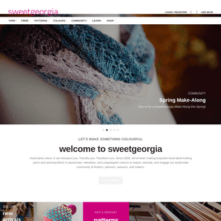 ArchiveBay.com - sweetgeorgiayarns.com - SweetGeorgia Yarns - Artisan Hand-Dyed Luxury Yarn and Spinning Fibre