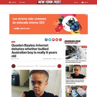 Quaden Bayles- Internet debates whether bullied boy is really 9