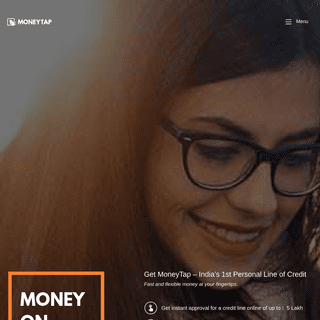 Get an instant line of credit up to ₹5 Lakhs - MoneyTap