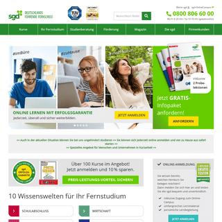 ArchiveBay.com - sgd.de - Fernstudium & Fernunterricht an der sgd Fernschule online buchen!