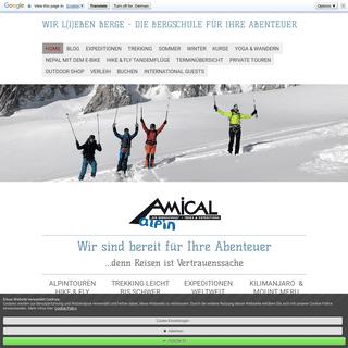 AMICAL alpin, Wir L(i)eben Berge, Trekkingtouren, Expeditionen, Alpenüberquerung, Skitouren, Skitourenreisen, Tandemfliegen, Mo