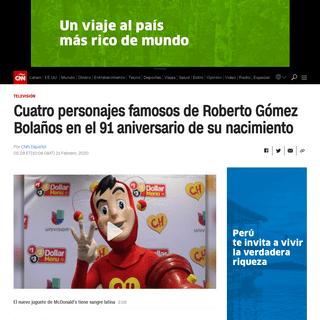 Cuatro personajes famosos de Roberto Gómez Bolaños en el 91 aniversario de su nacimiento - CNN