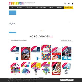 Editions Didier - Scolaire, FLE, Numérique, Formation