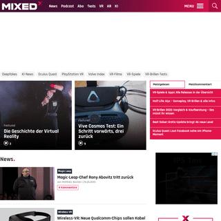 MIXED - News zu VR, AR und KI