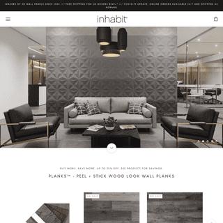 Inhabit - 3D Wall Panels - Wood Planks - 3D Concrete Tiles - Wallpaper