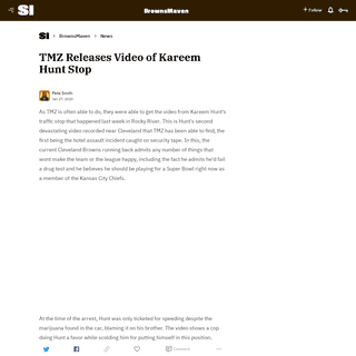 TMZ Releases Video of Kareem Hunt Stop
