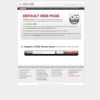 BIZ.NF HOSTING- DEFAULT WEB PAGE