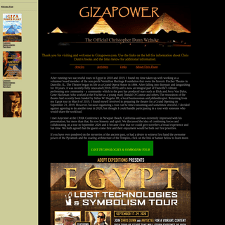 Gizapower - The Official Chris Dunn Website