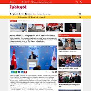 ArchiveBay.com - www.gazeteipekyol.com/gundem/adalet_bakani_gul_den_genclere_uyari_kadrosuna_bakin-h51961.html - Adalet Bakanı Gül'den gençlere uyarı- Kadrosuna bakın