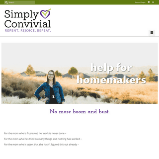 Help for Homemakers - Simply Convivial
