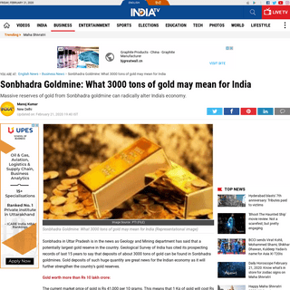 Sonbhadra Goldmine- What 3000 tons of gold may mean for India - Business News – India TV