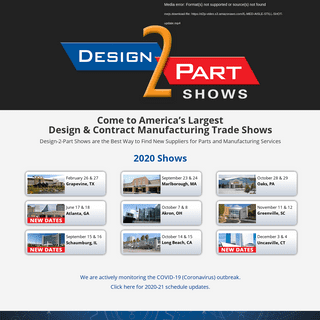 Design-2-Part Trade Shows - See The Best Manufacturers Face-to-Face at the Region's Largest Contract Manufacturing Trade Show