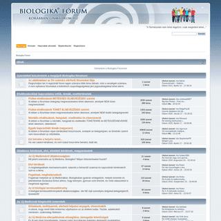 Biologika Fórum - Főoldal