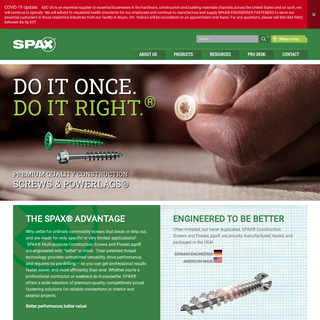 Construction Screws and PowerLags® - Amplify Your Craft - SPAX U.S.