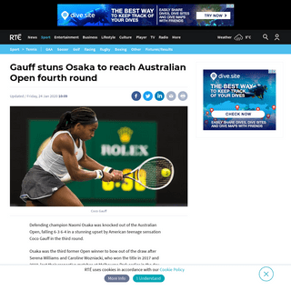 Gauff stuns Osaka to reach Australian Open fourth round