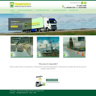 ArchiveBay.com - transyasu.com - Transyasu - Servicio de transporte terrestre de carga a nivel nacional. - Web
