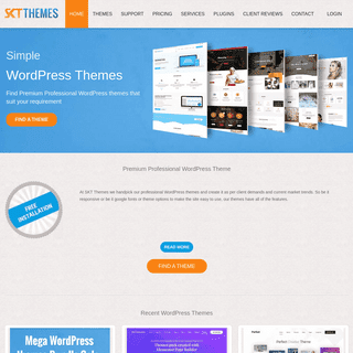 Professional WordPress Themes Templates purchase & download - SKT