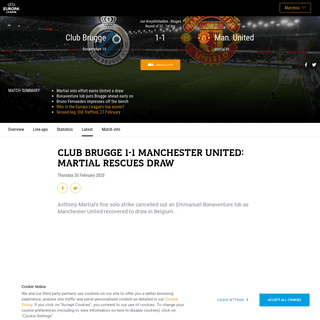 Club Brugge-Man. United - Club Brugge 1-1 Manchester United- Martial rescues draw - UEFA Europa League - UEFA.com