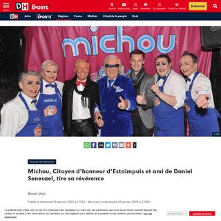 ArchiveBay.com - www.dhnet.be/regions/tournai-ath-mouscron/michou-citoyen-d-honneur-d-estaimpuis-et-ami-de-daniel-senesael-tire-sa-reverence-5e2db9f1d8ad587c2195fb6f - Michou, Citoyen d'honneur d'Estaimpuis et ami de Daniel Senesael, tire sa révérence - DH Les Sports+