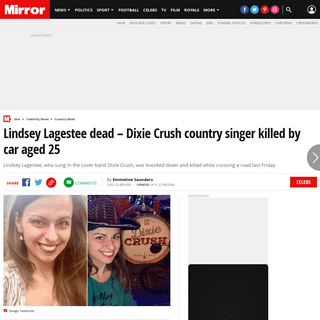 Lindsey Lagestee dead – Dixie Crush country singer killed by car aged 25 - Mirror Online