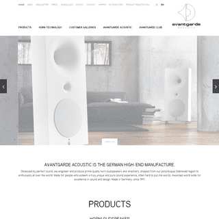German High-End manufacture for Hornloudspeakers and Amplifiers - Avantgarde Acoustic Hornloudspeaker