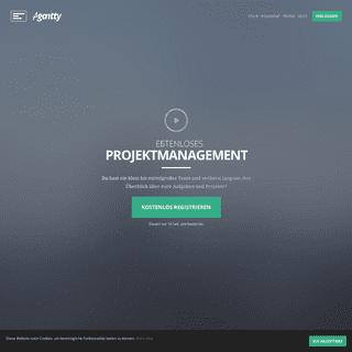 Kostenloses Gantt Chart. Kostenloses Projektmanagement Tool Agantty