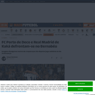 FC Porto de Deco e Real Madrid de Kaká defrontam-se no Bernabéu - MAISFUTEBOL