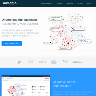 Audiense - Unique consumer insights and engagement, to help you grow