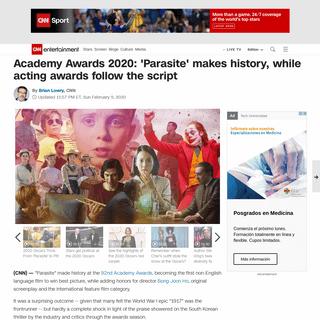 Academy Awards 2020- 'Parasite' makes history, while acting awards follow the script - CNN