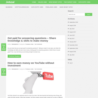 Jobzal - Guide to make money online from home without investment