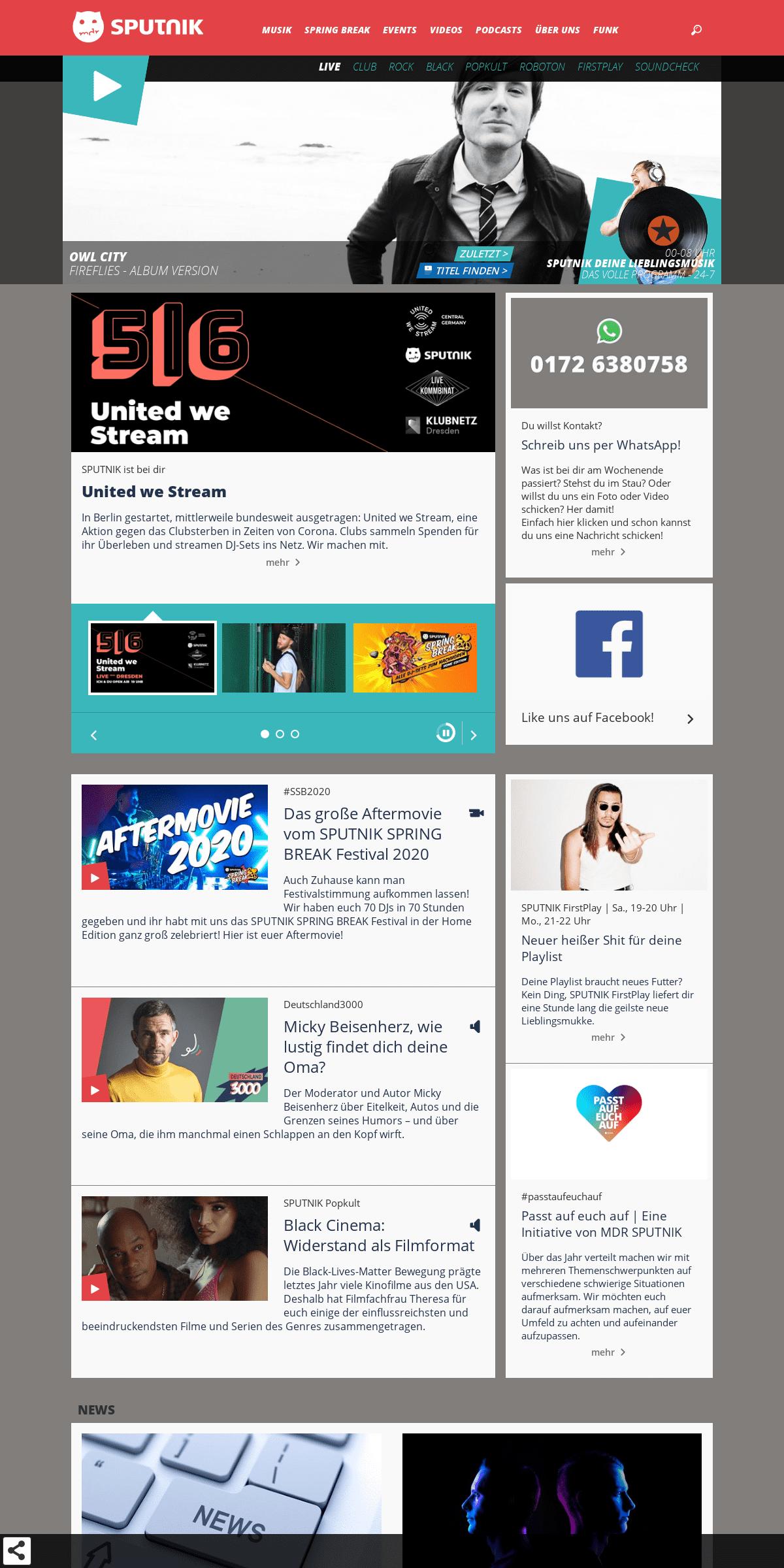 SPUTNIK Homepage