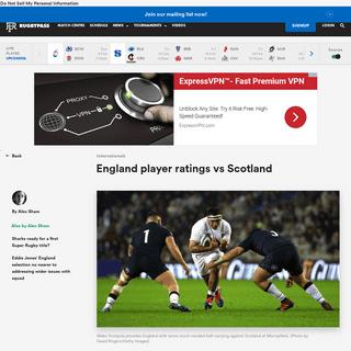 England player ratings vs Scotland