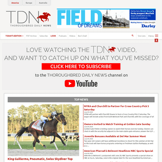 ArchiveBay.com - thoroughbreddailynews.com - Home - TDN - Thoroughbred Daily News - Horse Racing News, Results and Video - Thoroughbred Breeding and Auctions - Thoroughbred