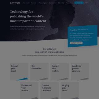 Atypon- Online Publishing Platform & Web Development Tools