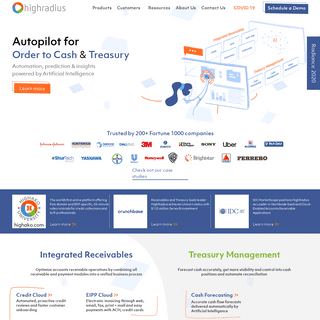 HighRadius™ - AI Software for Receivables and Treasury