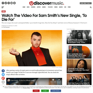 ArchiveBay.com - www.udiscovermusic.com/news/sam-smiths-new-single-die/ - Listen To Sam Smith's Brand New Single, To Die For