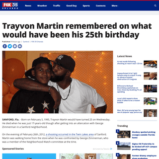 Trayvon Martin remembered on what would have been his 25th birthday - FOX 35 Orlando