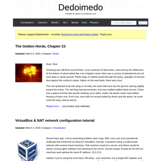 Dedoimedo - A Place to Learn a Lot About a Lot