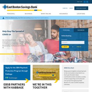 East Boston Savings Bank - Serving Boston Since 1848 - East Boston Savings Bank