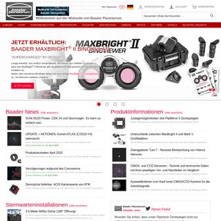 Baader Planetarium GmbH – Alles für Astronomie