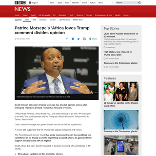 Patrice Motsepe's 'Africa loves Trump' comment divides opinion - BBC News