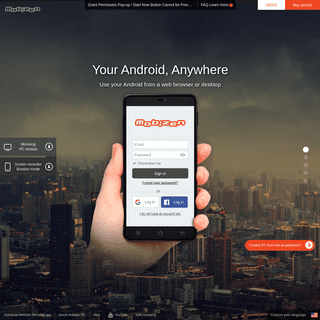 Mobizen - Your Android,Anywhere