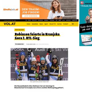 Robinson feierte in Kranjska Gora 2. RTL-Sieg - Magazin Sport Meldungen -- VOL.AT