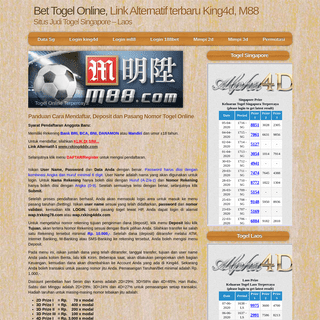 King4D - Togel Online Singapore - Toto 4D Betting