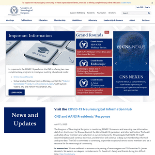 Congress of Neurological Surgeons - cns.org